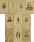 Military & Patriotic:Civil War, Confederate Surgeon Major Samuel Houston Caldwell's Collection of Confederate Generals CDVs. Surgeon to General Nathan Bedfo... (Total: 10 )