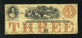 Obsoletes By State:Iowa, Ashland, IA- Farmers and Merchants Bank $3 Oct. 20, 1857. Even wear and nice edges are characteristics of this scarce Trey. ...