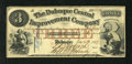 Obsoletes By State:Iowa, Dubuque, IA- Dubuque Central Improvement Company $3 Dec. 12, 1857.This post note carries wonderful pen signatures and a lis...