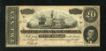 Confederate Notes:1864 Issues, T67 $20 1864. This VI Series note has been well preserved. Choice Crisp Uncirculated....