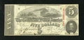 Confederate Notes:1863 Issues, T60 $5 1863. The edges are nice on this Very Fine $5....