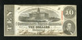 Confederate Notes:1863 Issues, T59 $10 1863. There is a corner fold into the design. Choice AboutUncirculated....