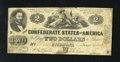 Confederate Notes:1862 Issues, T42 $2 1862. Judah P. Benjamin was a Yale graduate, class of 1828.This example is evenly circulated. A few pinholes are als...