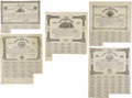 Confederate Notes:Group Lots, Ball 45; 71; 83; 87; 132 Cr. 17; 18; 19; 20; 21 $50; $50; $50; $50;$50 1861 Bonds Fine. All of these $50 bonds were once mo... (Total:5 items)