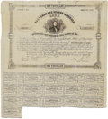 Confederate Notes:Group Lots, Counterfeit Ball C79 Cr. 89X Bond $1000 1863 Fine. This is anevenly handled counterfeit bond that has a small hole in the t...