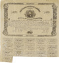Confederate Notes:Group Lots, Counterfeit Ball C72 Cr. X34 Bond $100 1861 Fine, repair. The lowerleft corner has a repair to the coupons. This counterfei...