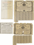 Confederate Notes:Group Lots, Counterfeit Ball C129 Cr. X101 $1000 Bond 1861 Two Examples Poor.Scrip Certificate for $5000- National Safe Deposit Co. L... (Total:4 items)
