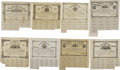 Confederate Notes:Group Lots, Ball 69; 75; 79; 82; 86; 91; 95; 101 Cr. 87; 88; 89; 90; 91; 92;93; 94 $1000 Bonds 1862-63. These $1000 denomination bonds ...(Total: 8 notes)