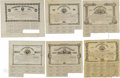 Confederate Notes:Group Lots, Ball 48; 54; 57; 63; 67; 73 Cr. 27; 29; 30; 31; 32; 33 $100 Bonds1862-63. These $100 bonds grade Fine or better with so... (Total: 6items)