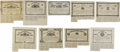 Confederate Notes:Group Lots, Ball 40; 43; 46; 49; 52; 55; 58; 65; 68 Cr. 52; 53; 54; 55; 56; 57; 58; 59; 60 $500 Bonds 1861-63. The $500 bonds in this lo... (Total: 9 items)