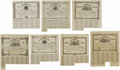 Confederate Notes:Group Lots, Ball 74; 77; 81; 85; 90; 93; 98 Cr. 61; 62; 63; 64; 65; 66; 67 $500Bonds 1862-63. Most of the $500 bonds in this lot are br... (Total:7 items)