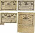 Confederate Notes:Group Lots, Ball 32; 35; 38; 41 Cr. 76; 77; 78; 79 $1000 Bonds 1862. These $1000 bonds grade Fine with the Ball 32 also being cut ca... (Total: 4 items)