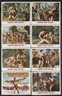 "Tarzan's Fight for Life (MGM, 1958). Lobby Card Set of 8 (11"" X 14""). Action Adventure. Starring Gordon Scott..."