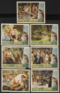 "Movie Posters:Adventure, Tarzan and the Amazons (RKO, 1945). Title Lobby Card (11"" X 14"")and Lobby Cards (6) (11"" X 14""). Action Adventure. Starring...(Total: 7 Items)"