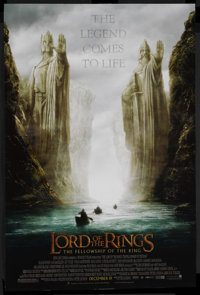 "The Lord of the Rings: The Fellowship of the Ring (New Line, 2001). One Sheet (27"" X 41"") Advance. Fantasy Adv..."