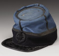 """Military & Patriotic:Civil War, Confederate Officer's Kepi From South Carolina, 6.75"""" x 8.5"""", with a high crown consisting of light blue wool trimmed conser..."""