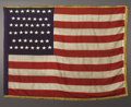 Military & Patriotic:Civil War, A Beautiful 46-Star Infantry Flag A rare and historical flag, this 46-star staggered pattern of seven and eight stars in th...