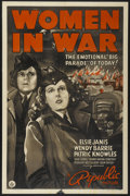 "Movie Posters:War, Women in War (Republic, 1940). One Sheet (27"" X 41""). War...."