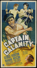 "Movie Posters:Adventure, Captain Calamity (Grand National, 1936). Three Sheet (41"" X 81"").Adventure...."
