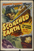 """Movie Posters:War, Scorched Earth (Lamont Pictures, 1942). One Sheet (27"""" X 41""""). War...."""