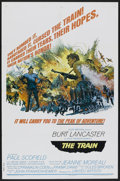 "Movie Posters:War, The Train (United Artists, 1965). One Sheet (27"" X 41"") Style B.War...."