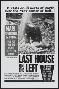 """The Last House on the Left (Sean S. Cunningham FIlms, 1977). One Sheet (27"""" X 41""""). Horror"""