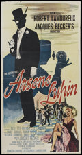 "Movie Posters:Crime, The Adventures of Arsene Lupin (MGM, 1957). Three Sheet (41"" X 81""). Crime...."