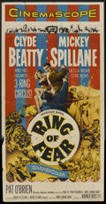 "Movie Posters:Mystery, Ring of Fear (Warner Brothers, 1954). Three Sheet (41"" X 81"").Mystery...."