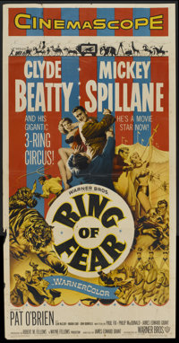 """Ring of Fear (Warner Brothers, 1954). Three Sheet (41"""" X 81""""). Mystery"""