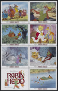 "Movie Posters:Animated, Robin Hood (Buena Vista, R-1982). Lobby Card Set of 8 (11"" X 14"").Animated.... (Total: 8 Items)"