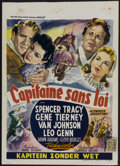 "Movie Posters:Adventure, Plymouth Adventure (MGM, 1952). Belgian (13.5"" X 19"").Adventure...."