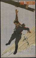 "Movie Posters:War, Nad Tissoy (Mosfilm, 1958). Russian Poster (24.25"" X 39.25"").War...."