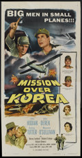 "Movie Posters:War, Mission Over Korea (Columbia, 1953). Three Sheet (41"" X 81"").War...."