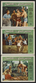 """Movie Posters:Horror, Creature From the Black Lagoon (Universal International, 1954). Lobby Cards (3) (11"""" X 14""""). Horror.... (Total: 3 Items)"""