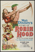 "Movie Posters:Adventure, The Story of Robin Hood (RKO, 1952). One Sheet (27"" X 41"") Style A.Adventure...."