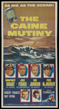 "Movie Posters:War, The Caine Mutiny (Columbia, 1954). Three Sheet (41"" X 81""). War...."