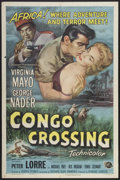 "Movie Posters:Adventure, Congo Crossing (Universal International, 1956). One Sheet (27"" X41""). Adventure...."