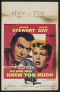 """Movie Posters:Hitchcock, The Man Who Knew Too Much (Paramount, 1956). Window Card (14"""" X22""""). Hitchcock...."""