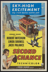"""Second Chance (RKO, 1953). One Sheet (27"""" X 41"""") 3-D Style. Thriller"""
