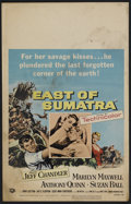 "Movie Posters:Adventure, East of Sumatra (Universal, 1953). Window Card (14"" X 22"").Adventure...."