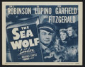 "Movie Posters:Adventure, The Sea Wolf (Warner Brothers, R-1947). Title Lobby Card (11"" X14""). Adventure...."