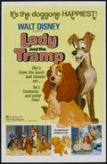"Movie Posters:Animated, Lady and the Tramp (Buena Vista, R-1972). One Sheet (27"" X 41"").Animated...."