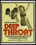 "Movie Posters:Adult, Deep Throat (Aquarius Releasing, 1972). Poster (22"" X 28"").Adult...."