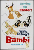 "Movie Posters:Animated, Bambi (Buena Vista, R-1966). Poster (40"" X 60""). Animated...."