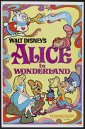 """Movie Posters:Animated, Alice in Wonderland (Buena Vista, R-1981). One Sheet (27"""" X 41"""").Animated...."""
