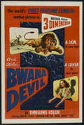 "Movie Posters:Adventure, Bwana Devil (United Artists, 1953). One Sheet (27"" X 41""). 3-DAdventure...."