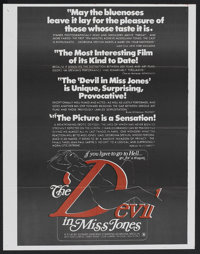 """The Devil in Miss Jones (MB Productions, 1973). Poster (22"""" X 27""""). Adult"""