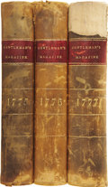 Books:Non-fiction, The Gentleman's Magazine and Historical Chronicle, 1775,1776, and 1777. London: D. Henry, 1775-1777.... (Total: 3 Items)