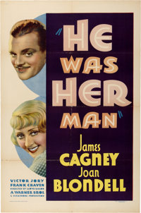 "He Was Her Man (Warner Brothers, 1934). One Sheet (27"" X 41"")"