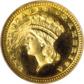 Proof Gold Dollars, 1888 G$1 PR66 Cameo NGC. CAC....